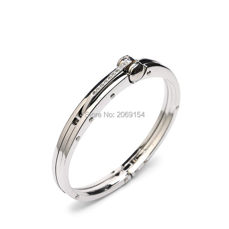 Logam Gelang Untuk Pria Pesona Perhiasan Perak Bangle Desain Baru Stainless Steel Link Rantai Merek Fashion Untuk Hadiah Warna Hitam