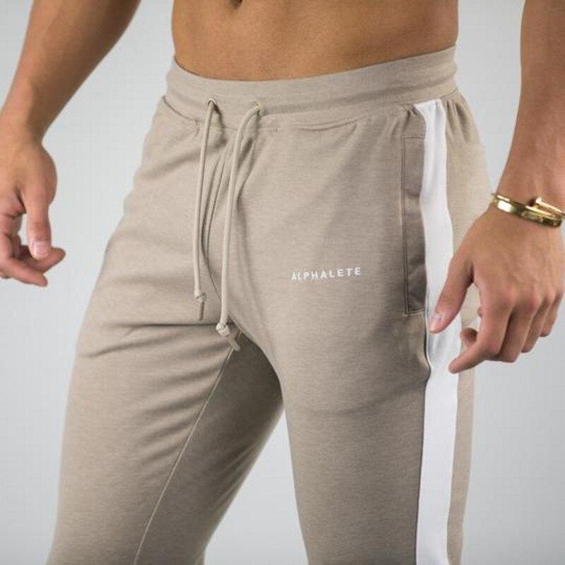 2019 Spring New Men Slim Sweatpants ALPHALETE Gyms Fitness Bodybuilding Trousers Man Jogger Workout Casual Fashion Pants