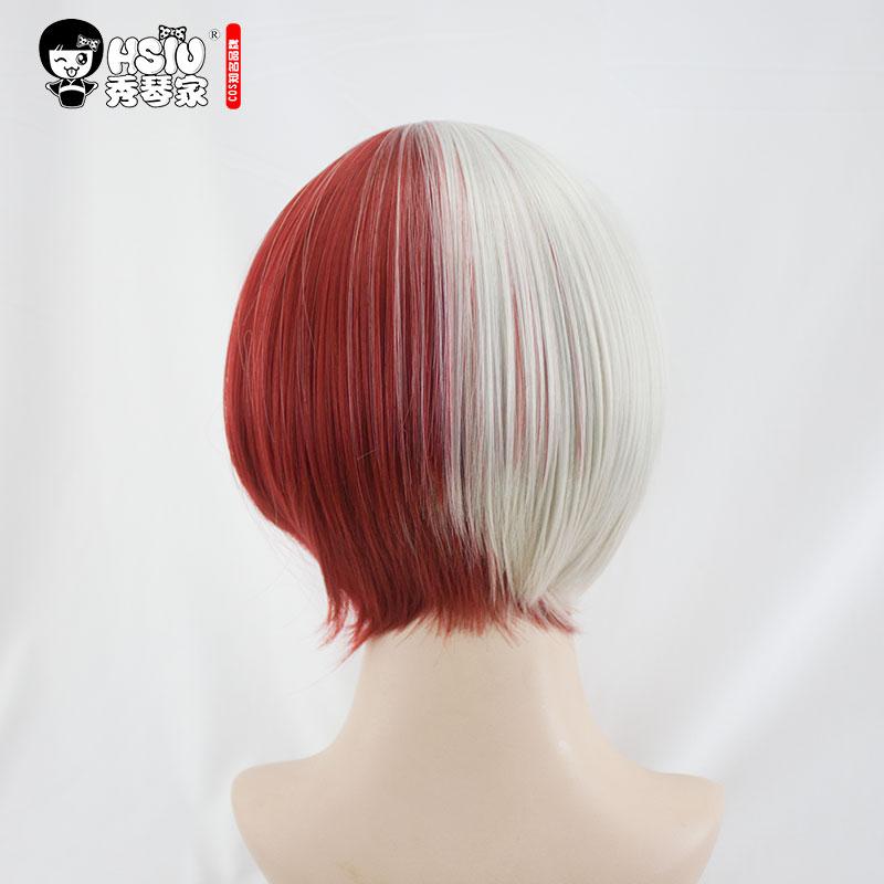 HSIU NEW High quality Shoto Todoroki Cosplay Wig My Hero Academy Costume Play Wigs Halloween Costumes Hair free shipping