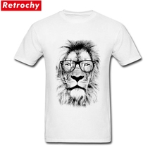 c3e12adf7b37 Original Short Sleeve Men s Summer The King Lion of the Library T Shirt  Round Neckline Mr