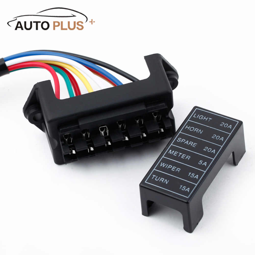 small resolution of detail feedback questions about 6 way car fuse box circuit car trailer auto blade fuse box block holder dc 12v 24v 32v atc ato 2 input 6 ouput wire on