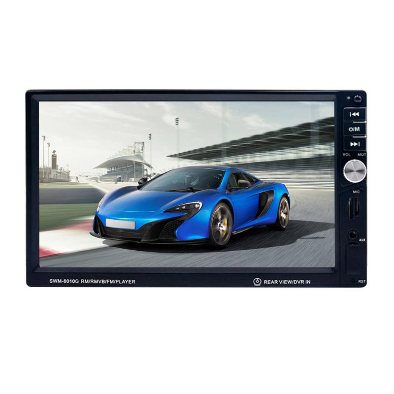 7 LCD 2 Din Car MP5 Player Bluetooth FM Radio Autoradio Multimedia Player Auto GPS Navigator with Steering Wheel Remote Control 7021g 2 din car multimedia player with gps navigation 7 hd bluetooth stereo radio fm mp3 mp5 usb touch screen auto electronics