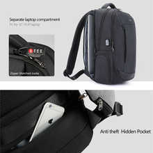 Tigernu Men's Backpack for 15.6 inches USB Charging Waterproof Anti Theft Laptop Backpacks for Male Large Bagpack mochila hombre