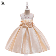 Kids Dresses for Girls Evening Party First Communion Pageant Dresses Flower Girl Princess Dress Girls Wedding Dress Handmade flower girl dress for girls kid first communion dresses tulle lace wedding princess dress for christmas party costume 3 14y