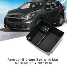 Caja recipiente de almacenamiento de apoyabrazos CR-V para Honda CRV 2017 2018 consola Central guantera bandeja organizador Interior