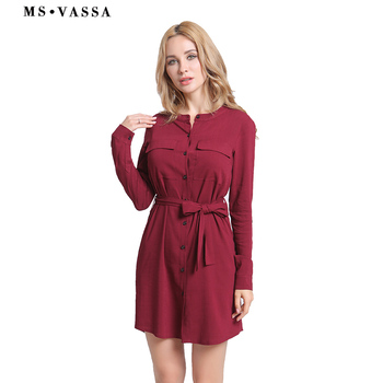 Casual Stylish Knee Length Ladies Loose Dress