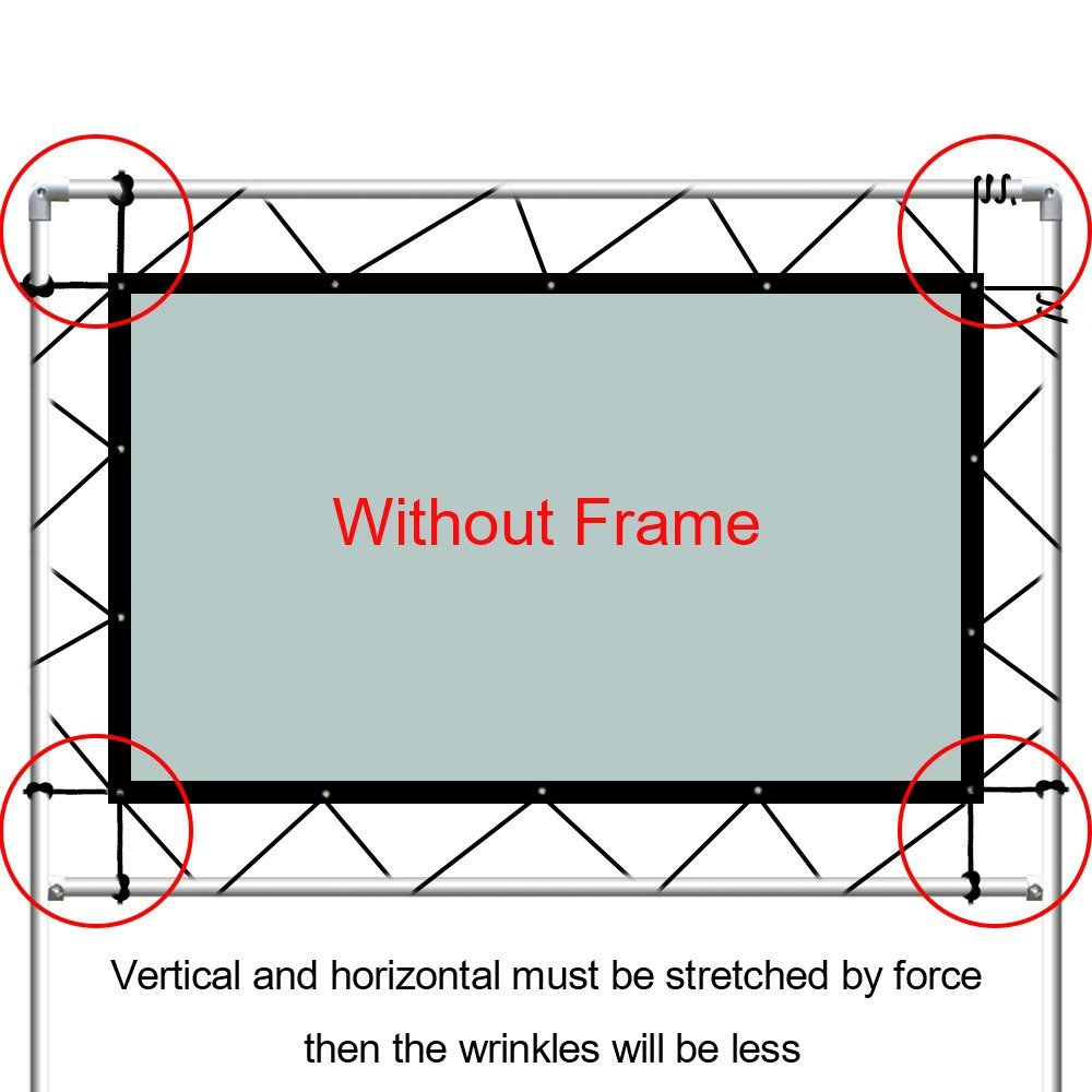 NIERBO 84 Inches Projection Screens Home Theater Business ...