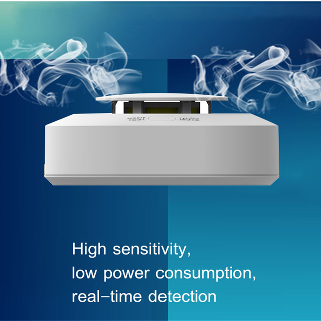 Wireless Fire Protection Temperature and Smoke Double alarm Detector  1