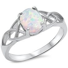 XKXLHJ Fashion Jewelry, Oval Opal Ring, Jewelry Engagement Ring Birthstone Birthday Gift Size 6-9