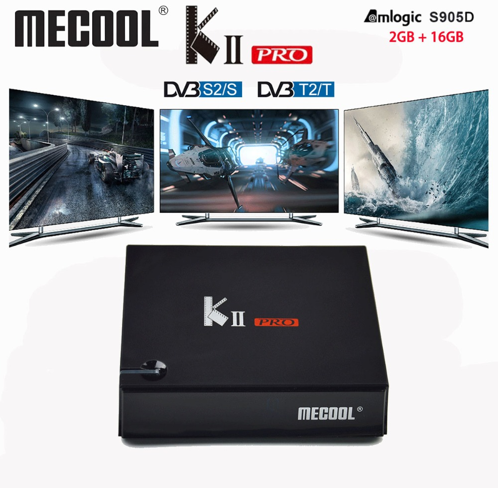 DVB T2 Android KII PRO Android 7 1 DVB S2 S905D TV Box Quad Core 2GB