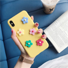 candy color 3d flower phone case for samsung galaxy note 9 8 5 c9 pro c7 2018 silicone soft tpu back cover coque capa fundas