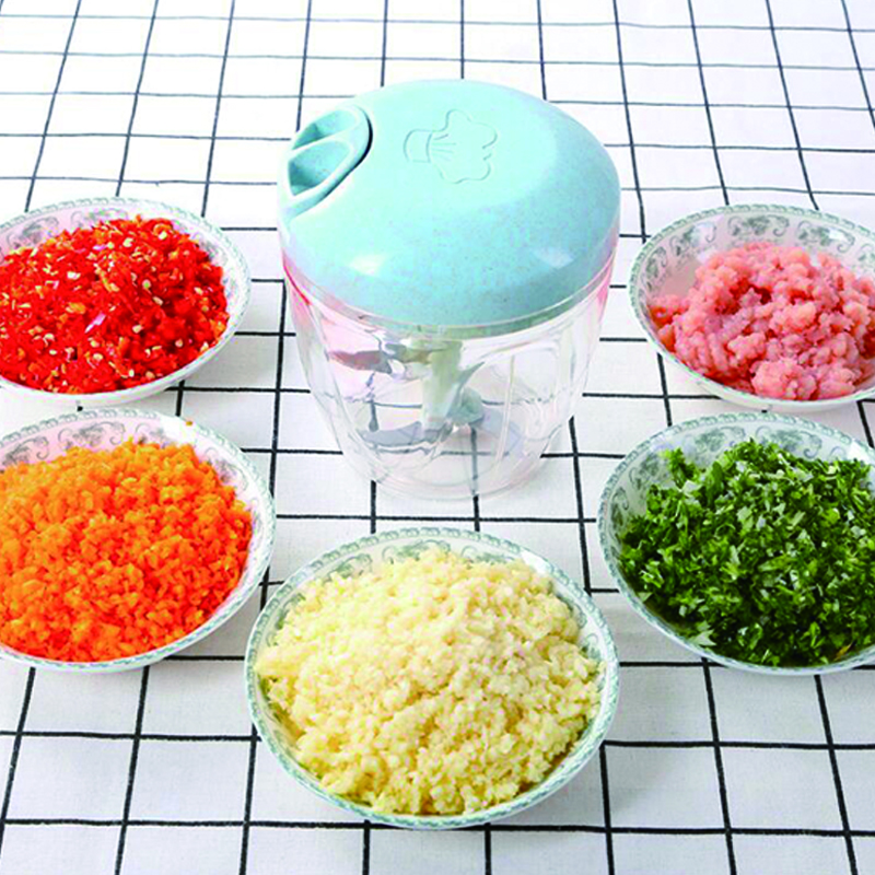 Manual Food Chopper Shredder Hand Pulling Food Processor Household Vegetable Meat Grinder Crusher Blender Kitchen Accessories