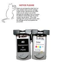 1 Unidades pg-40 cl-41 pg40 cl41 cartucho de tinta para canon pixma ip2500 ip2600 mp160 mp140 mx300 mx310 mp150