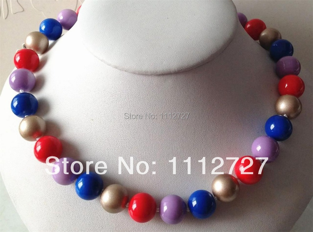 Accessory Crafts Parts Jewelry Beads Stone Ball Gifts 14mm Color Sea Shells Pearl Neckla ...