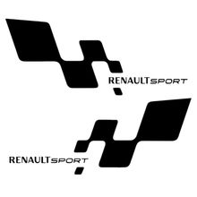 "TOARTI Free Ship Car Styling New Waterproof ""Renault Sport ""Car Sticker For BMW Kia Rio, For Ford For VW For Renault Car Covers(China)"