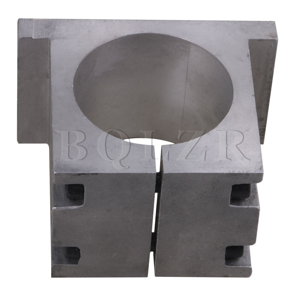 CNBTR 80mm Square Spindle Motor Mount Bracket Clamp for CNC Engraving Machine 80mm spindle motor bracket seat cnc carving machine clamp motor holder cast aluminum sandblasting surface for 80mm spindle motor