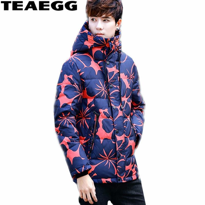 TEAEGG Warm Winter Jacket Men Coat Plus Size Mens Winter Down Jacket Short Chaqueta Plumas Hombre Mens Clothing Jackets AL367