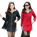Parkas For Women Winter Down Cotton Jacket Slim Female Patchwork Long Outerwear Hooded Plus Size Winter Coat Women M-4XL