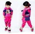 Crianças crianças meninas dos desenhos animados impressão Mickey Hoodies + calças 2 peças conjunto Clohing Set Twinset