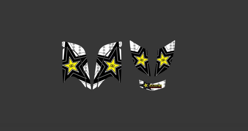 0338 Star New Style 3M DECALS STICKERS Graphics Kits FIT for RAPTOR 660 ATV