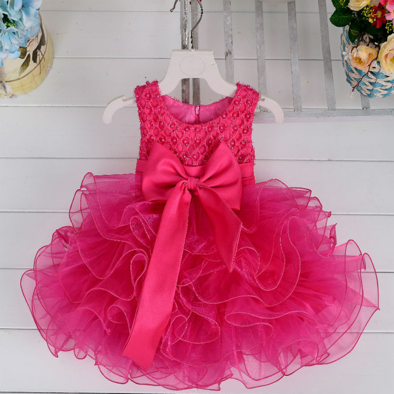 Formal Pearl Sequins Girl Dress Ball Gowns Kids Dresses For Infant Girls Party Princess Clothes 3 24M Birthday In From Mother