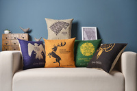 Game Of Thrones Pillow Cover A Song Of Ice And Fire Cartoon Wolf Deer Fish Throw