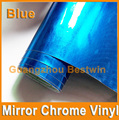 Free Shipping car styling Whole sell high quality car wrap vinyl 1.52*30m  Mirror Chrome with Air bubble free