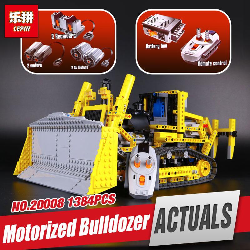 New LEPIN 20008 technic series remote contro lthe bulldozer Model Assembling Building block Bricks kits Compatible with 42030 new lp2k series contactor lp2k06015 lp2k06015md lp2 k06015md 220v dc