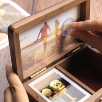 New Photos Wooden Jewelry Box Music Box Send Valentine's Day Gift Creative Novelty Send Boyfriend Gift Wooden Box Music Box