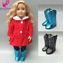 "18 inch girl Doll clothes set for Baby doll new Born Doll pants clothes 18"" doll coat pants(China)"