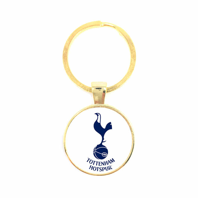 Football Team Logo 25mm Glass Dome Key Chain For Leicester City Football Club Football Fans' Commemorative Best Gifts