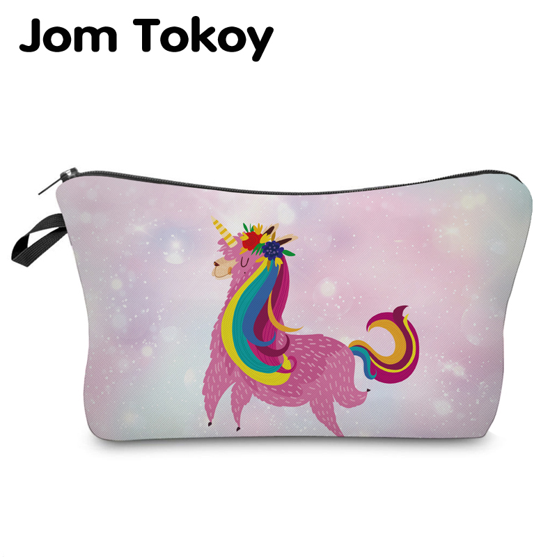 Jom Tokoy Cosmetic Organizer Bag Make Up Printing Llama Cosmetic Bag Fashion Women Brand Makeup Bag Hzb938