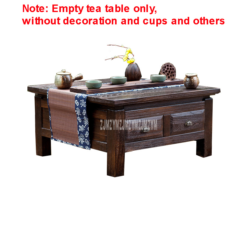 Us 191 92 13 Off Chinese Style Tea Table With 4 Drawer Household Solid Wood Floating Window Anese Tatami Storage Wooden Low In
