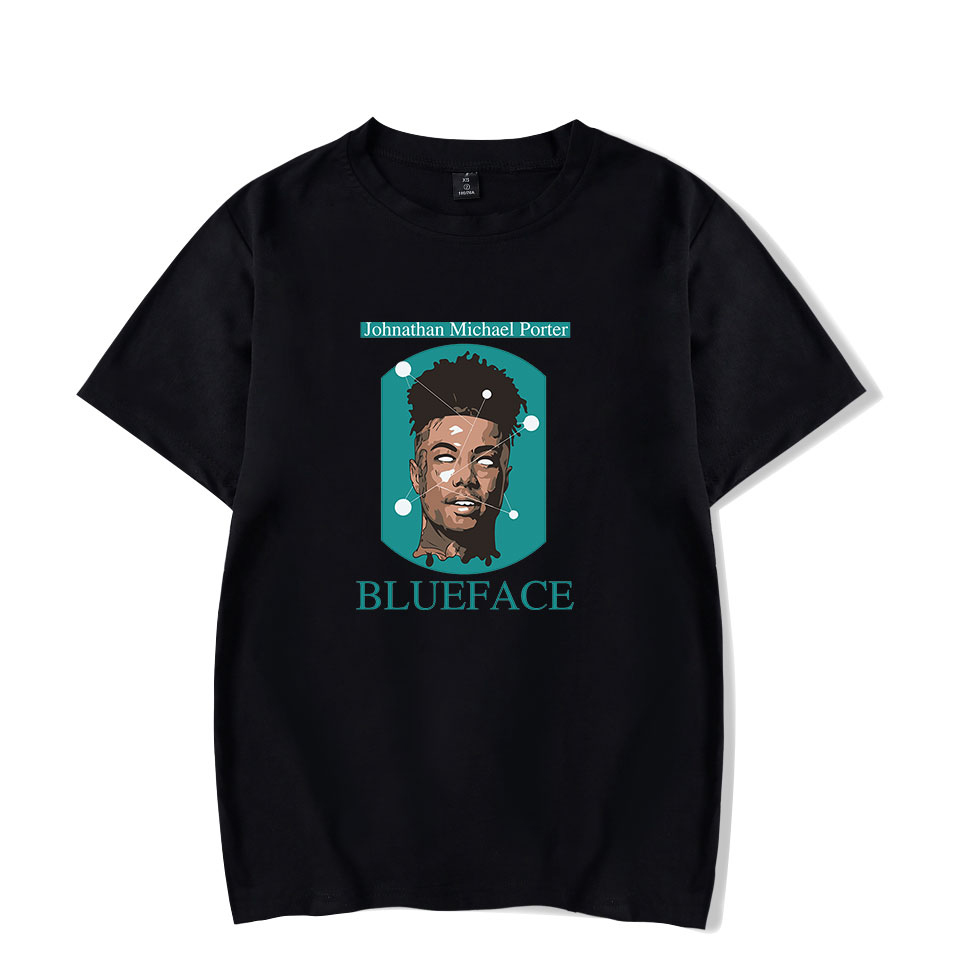 Summer Trend Casual Short Sleeve Blueface Print T-Shirt Fashion Street T-Shirt Men/Women Comfortable Slim O-Neck Men's T-Shirt
