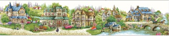 14/16/18/27/28 Top Quality popular counted cross stitch kit a green village country countryside city town house home image