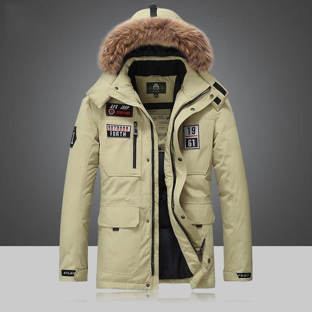 Marca Pato Branco Para Baixo Homens Parka Casacos de Inverno 2016 de Alta qualidade Homem Casacos Sobretudos Outwear Blusão Quente Plus Size 4XL 5XL