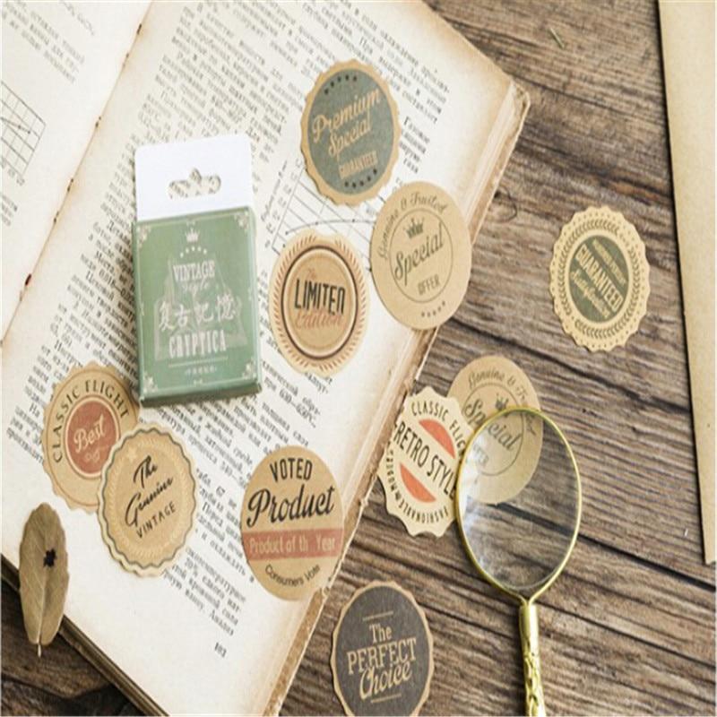 1Pack Beautiful Plant Map Retro Memory Sticker Paper