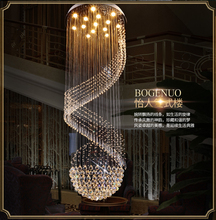 Crystal Chandeliers LED Modern Long Spiral Chandelier Lights Fixture Home Indoor Lighting Villa Hotel Club Hanging Lamps Chrome  modern luxurious chandeliers lighting led pendant lamps crystal chandelier hanging lights for living room hotel villa e14 220v