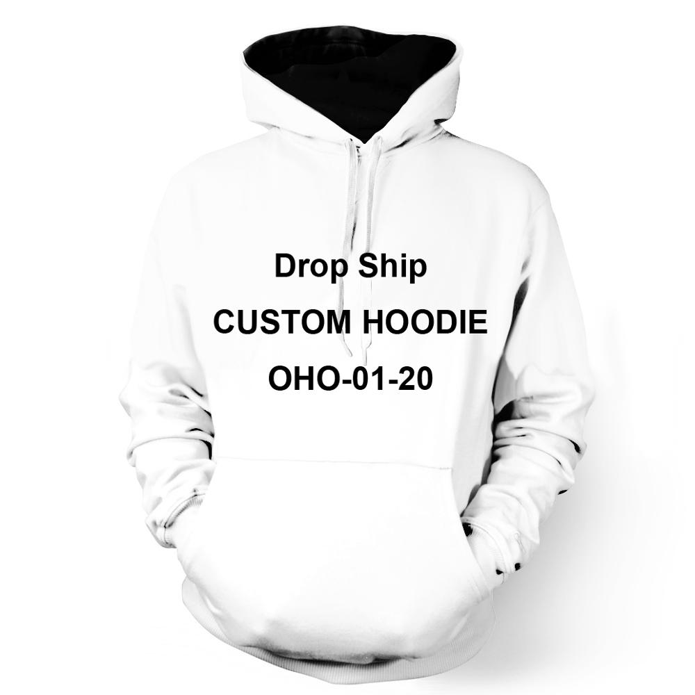ONSEME Custom Hoodies Unisex Customize Hooded Sweatshirt DIY Long Sleeve Sweatshirt Pullovers OHO-01-20