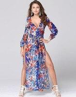 שמלות שיפון החוף תלבש שמלה מזדמן ארוכה בוהמה 865