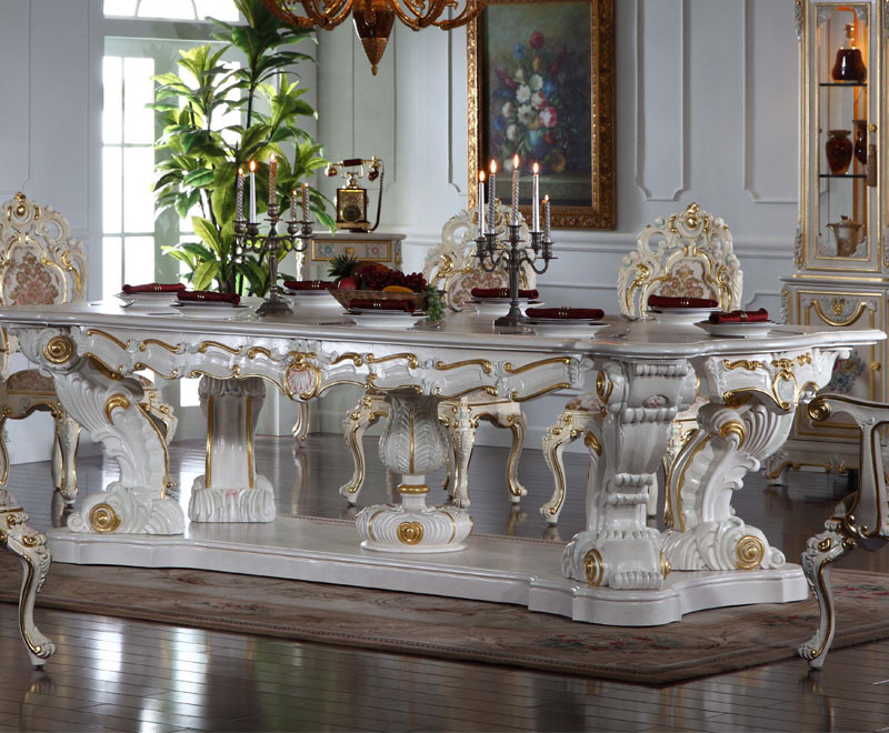 Italian Baroque Style Hand Carved Luxury Table Sets
