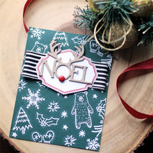 GJCrafts Noel Letter Metal Cutting Dies new 2019 for dies Scrapbooking Craft Dies DIY Album Embossing Stencil Card Decoration цена