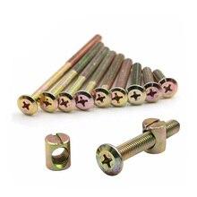 M6 furniture bolts cross barrel bowl nut phillips