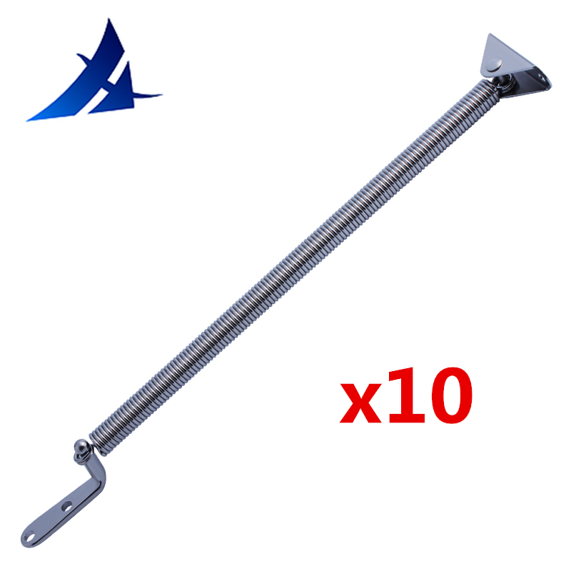 Wholesale 10 Pieces Heavy Duty Stainless Steel Spring For Boat Yacht Marine Camper AV 214mm Long Hardware Accessaories boat accessories marine 361 stainless steel heavy duty motor bracket bateau and yacht marine stainless wooden base motor bracket