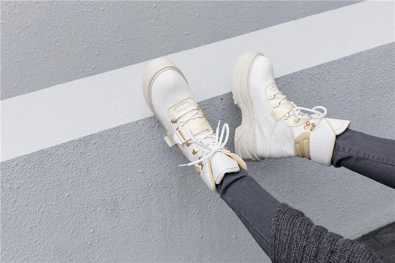 bianco Espadrillas Cuoio Fibbia Donne Lace Tenis Da Scarpe Mujer Nero Donna Della Up Reale 42 Casual Grande Tennis Sapato Di Feminino Formato Delle Piattaforma Il FfnwW4qS4