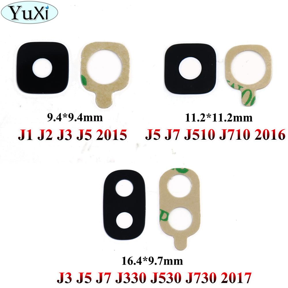 YuXi 2pcs/lot Back Rear Camera Glass Lens Ring For Samsung Galaxy J3 J5 J7 J2 J1 / J510 J710 / J530 J730 J330 2017 2016 2015