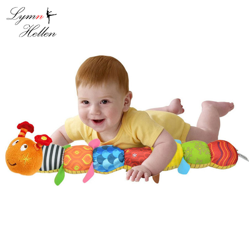 Baby Stuffed Colorful Caterpillar Toy Music Rattle Height