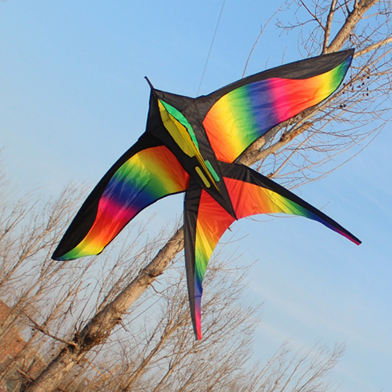 172CM-Colorful-Swallow-Kite-Beautiful-Rainbow-Kite-Color-Bird-Kites-Easy-Control-Flying-With-Handle-Line-Children-Present-Gift-1