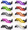 Short Clutch Brake Levers For Kawasaki Z750 2004 2005 2006 CNC Adjustable 10 Colors Pair