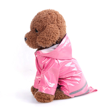 Summer Outdoor Puppy Pet Rain Coat S-XL Hoody Waterproof Jackets PU Raincoat for Dogs Cats Apparel Clothes Wholesale